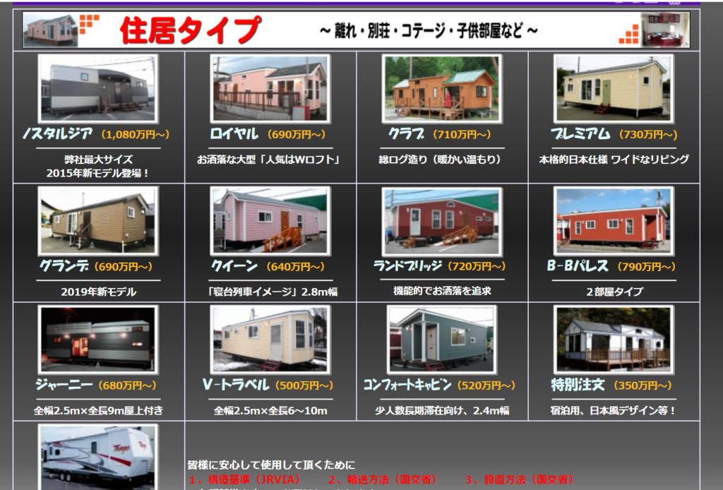 カンバーランドジャパン トレーラーハウス 価格 新品 中古 値段 比較